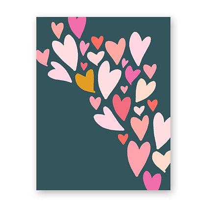 Heart Flow Blank Note Card