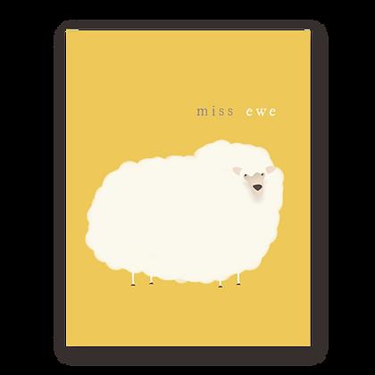 Miss Ewe Greeting Card