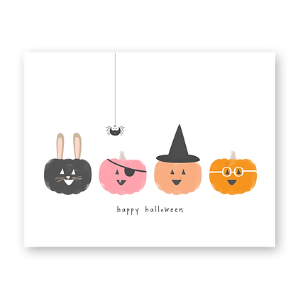 Jack-o-lantern Halloween Greeting Card