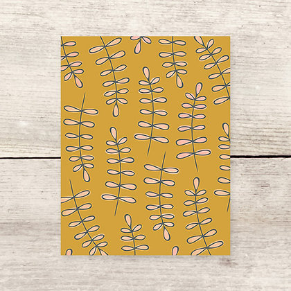Fern Pattern Blank Greeting Card
