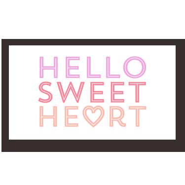 Hello Sweetheart mini card