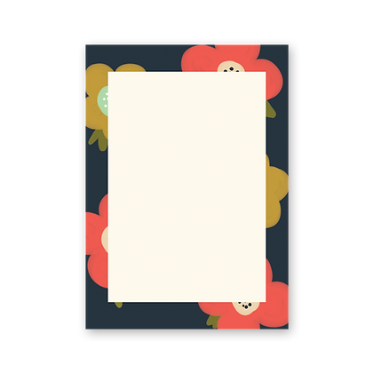 Poppies Notepad (2 colors)