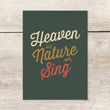 Heaven Nature Christmas Note Card