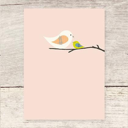 Mama Bird Blank Greeting Card