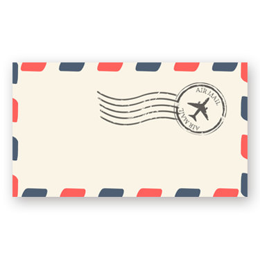 Vintage Airmail mini card