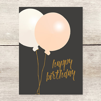 Oversized Balloons Birthday Greeting Card