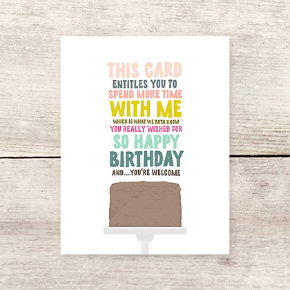 Card Entitles Birthday Card