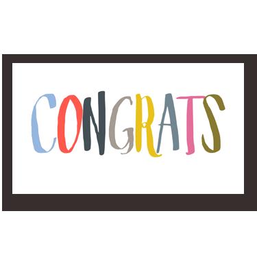 Congrats Colors mini card