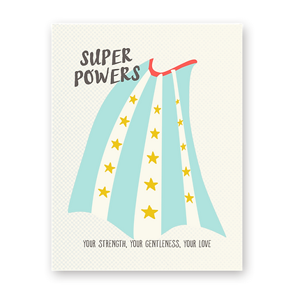 Super Powers Greeting Card