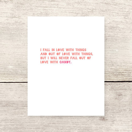Love Candy Greeting Card