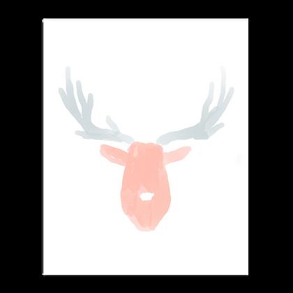 Watercolor Deer Art Print (2 styles)