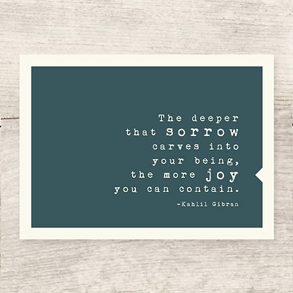 Sorrow Joy Greeting Card