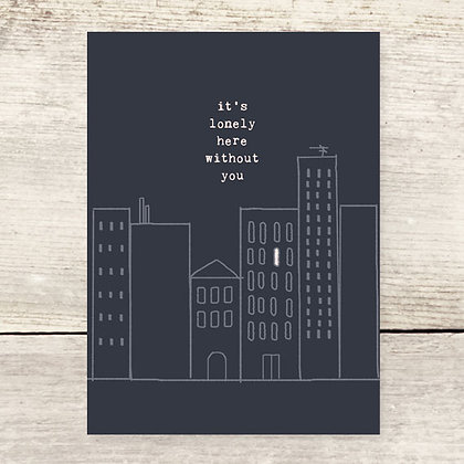 Lonely City Greeting Card