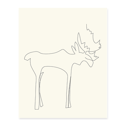 Minimalist Moose Art Print