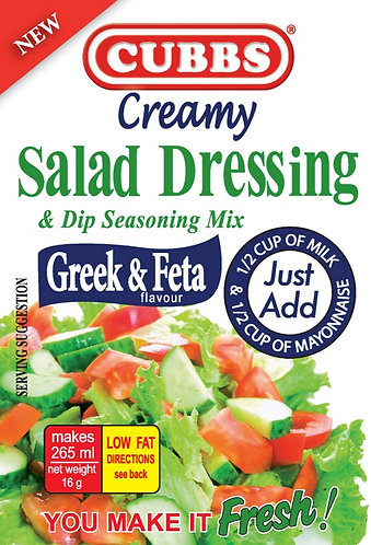 Salad Dressing - Creamy Range - Greek & Feta Flavour