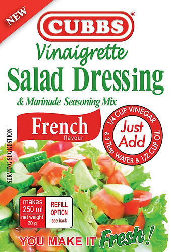 Salad Dressing - Vinaigrette Range - French Flavour
