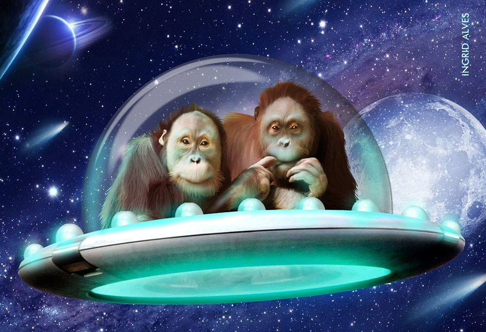 Space monkeys - Pintura Digital