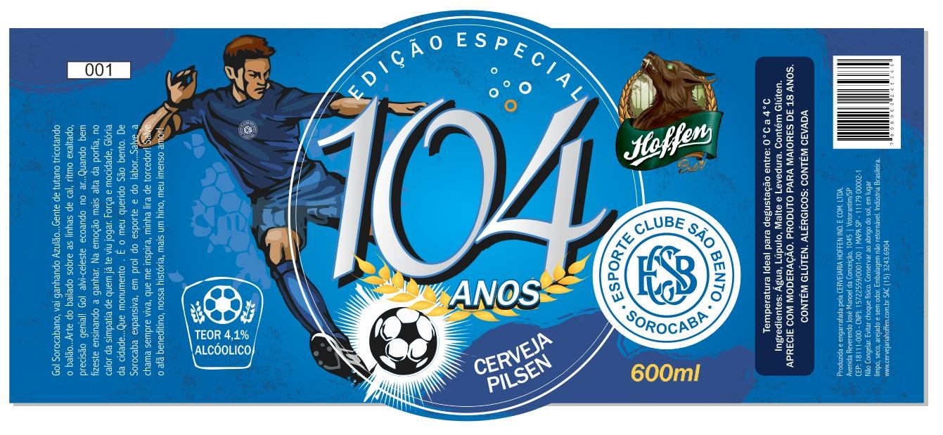 Rótulo Hoffen-104 anos São Bento