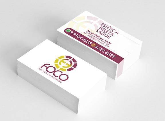 Logo e Cartão Foco Estética