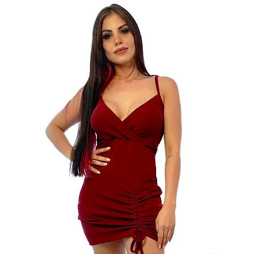 Vestido Vinho Frufru