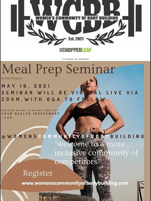 Meal Prep Seminar