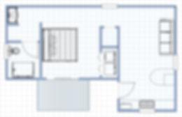 King suite floor plan
