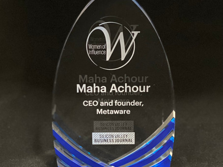Today SVBJ awards Women of Influence class of 2020 -- includes Metawave Founder and CEO Maha Achour