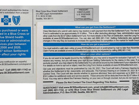 Blue Cross Blue Shield Notice: Do I Have to Do Anything?
