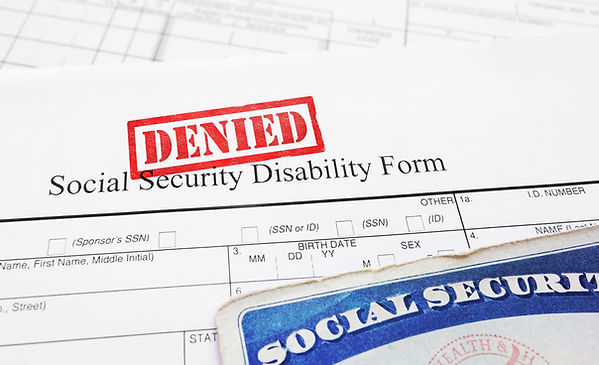 Social Security Disability Benefits Deni