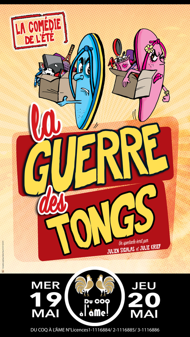 La guerre des tongs_Café-théâtre Du Coq