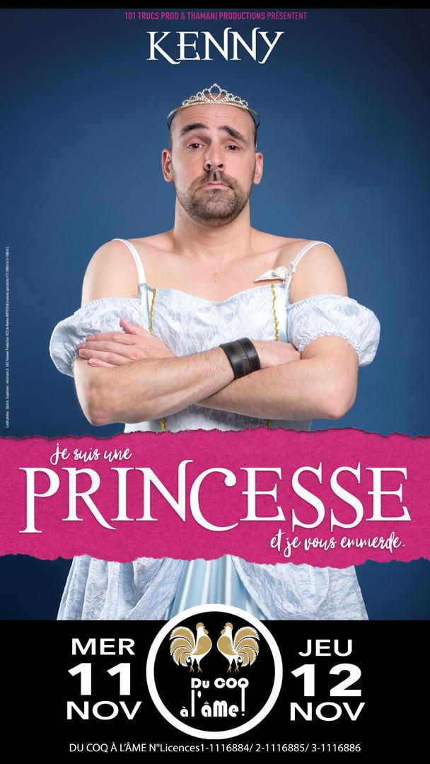 Kenny_Je suis une princesse_Café-théâtre