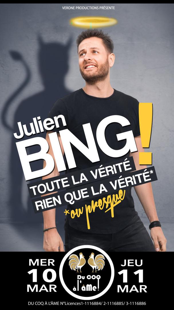Julien Bing_Toute la vérité_Café-théâtre