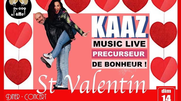 Saint-Valentin! Dîner-Spectacle CONCERT - KAAZ (1)
