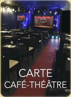 Carte & Menus Café-Théâtre