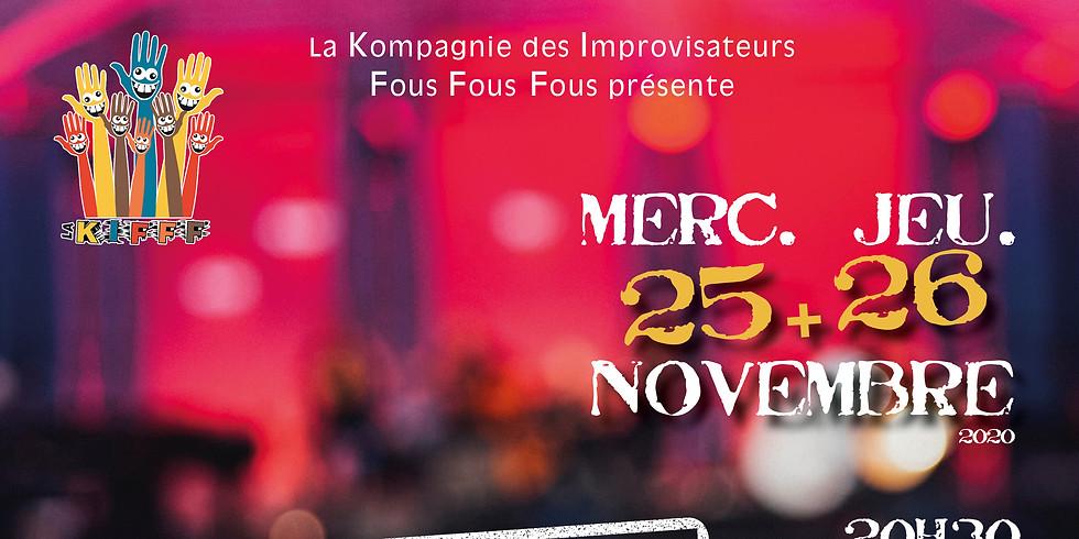 12h-15h30 - Déjeuner-Spectacle / LA KIFFF - Spectacle d'improvisation