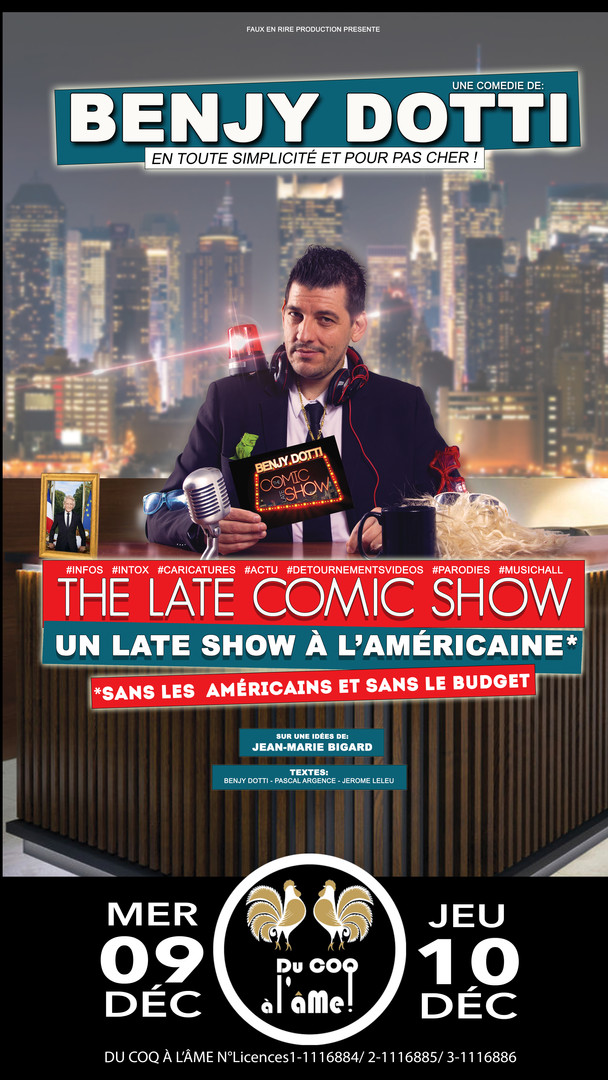 Benjy Dotti_Late Comic Show_Café-théâtre