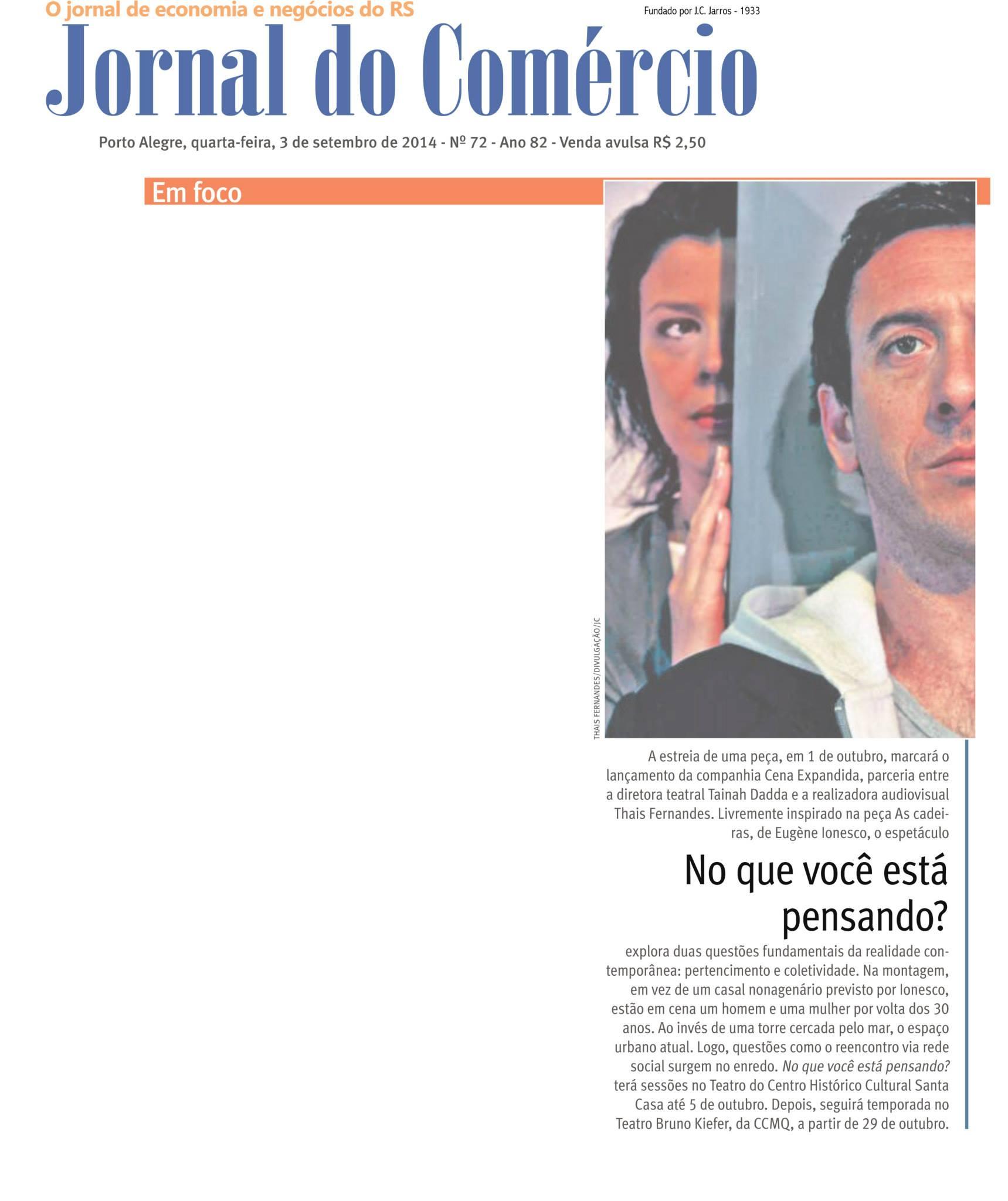 Jornal do Comércio | set. 2014