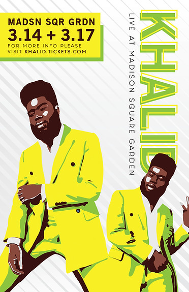 Khalid Concert Poster