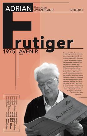 Adrian Frutiger Tabloid Size Poster