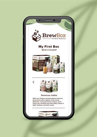 BrewBox 'My First Box' Screen
