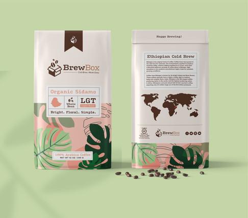 Ethiopian Bean Packaging (Front & Back)