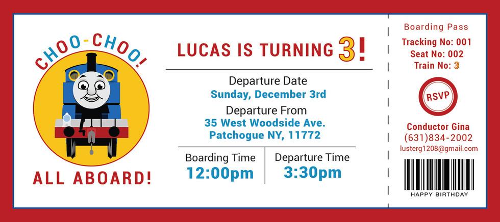 Thomas The Train Birthday Invitation