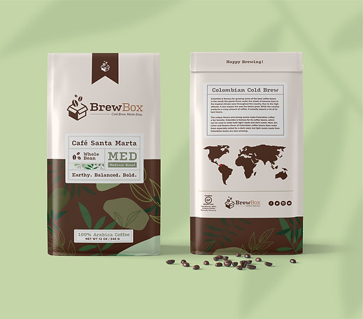 Colombian Bean Packaging (Front & Back)