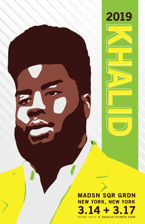 Khalid Concert Poster 1