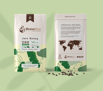 Indonesian Bean Packaging (Front & Back)