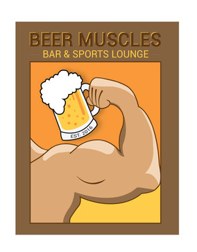 Beer Muscles Bar and Sports Lounge (Logo 2)