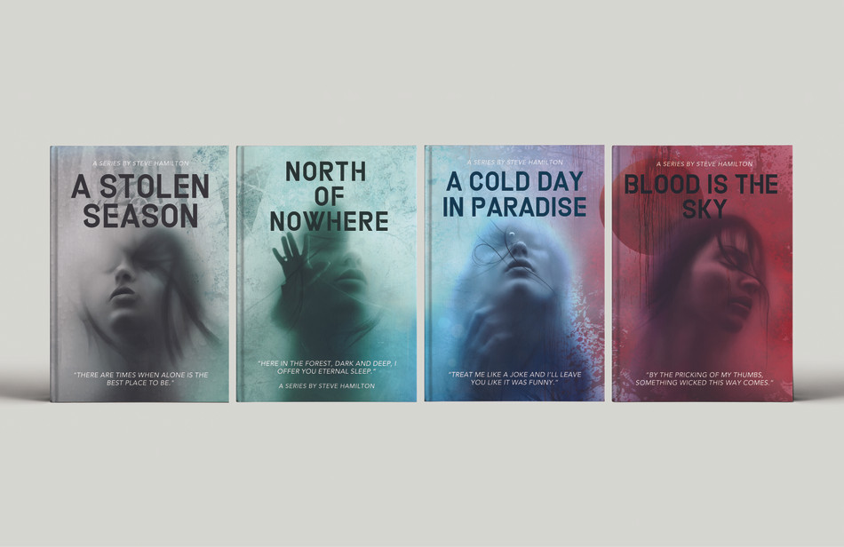 Steve Hamilton Book Cover Series