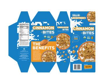 Cinnamon Bites Cereal Packaging