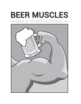 Beer Muscles Bar and Sports Lounge (Logo 3)