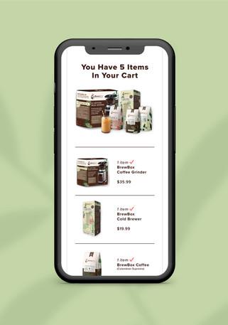 BrewBox Shopping Cart Screen